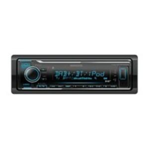 Kenwood KMM-BT504DAB Autoradio mit DAB+ Tuner, Dual Bluetooth, Front-USB mit iPod/iPhone-Direkt-Steuerung und Android Music Control, 1-DIN