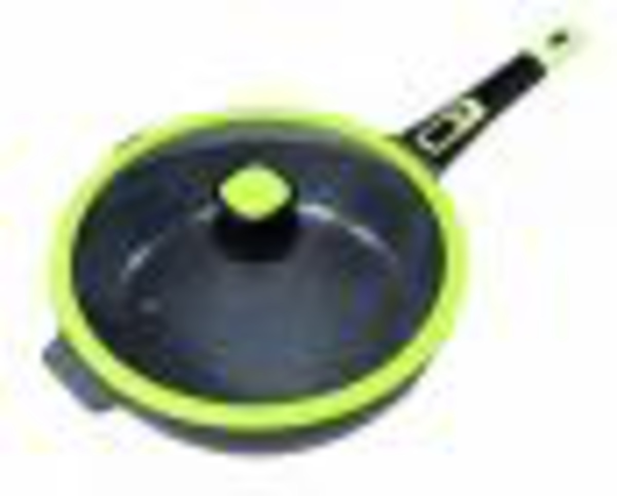 Bild 3 von KING Click-Grip Bratpfannenset 3tlg. Aluguss mit Keramikbeschichtung mit Glasdeckel