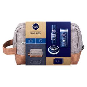 Nivea Geschenkset Travel Buddy mit Dusche 250ml, Deospray 150ml, Creme 50ml und Kulturtasche Je Set