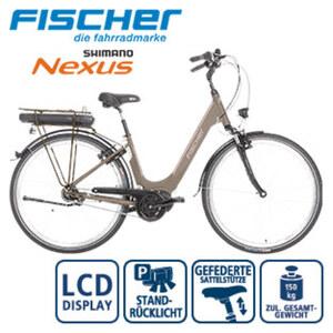 Alu-Elektro-Citybike CITA 3.0 28er - Fahrunterstützung bis ca. 25 km/h - Li-Ionen-Akku mit hochwertigen Markenzellen 36 V/11 Ah, 396 Wh - Reichweite: bis ca. 100 km (je nach Fahrweise) - Shimano V-B
