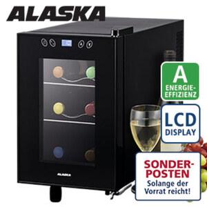 Weinkühler TC 1006 · 18 Liter Nutzinhalt · höhenverstellbare Füße · Maße: H 37,8 x B 24,6 x T 50,3 cm · Energie-Effizienz: A (Spektrum: A+++ bis D)