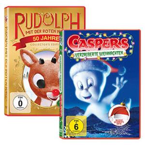 DVD mit Wunschsäckchen, mit Weihnachtsmütze, je