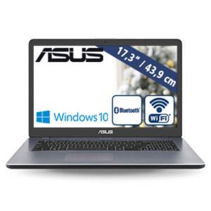 Notebook F705UA-BX832T · HD+-Display · Intel® Pentium® Gold 4417U Prozessor (bis zu 2,3 GHz) · Intel HD Graphics 610 · USB 3.1 (Type C), USB 3.0, USB 2.0, HDMI