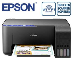 EcoTank ET-2711  · Nachfüllbarer Multifunktionsdrucker  · Inkl. Tinte für den Druck von bis zu 8.100/6.500 S. in s/w bzw. Farbe · Wi-Fi & Wi-Fi Direct, mobiles Drucken  · Randlos drucken bis 10