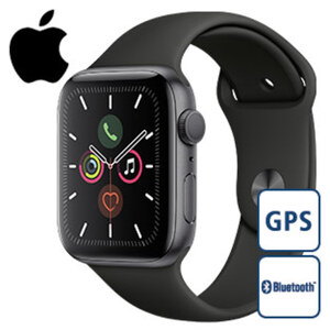 Apple Watch – Series 5 GPS · Always-On Retina Display · 64-Bit Dual-Core S5 Prozessor · 32-GB-Speicher · WLAN 802.11 b/g/n 2,4 GHz · Elektrischer und optischer Herzsensor