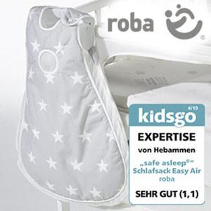 """Schlafsack Easy Air """"safe asleep"""" 100 % Baumwolle, Mesh-Einsätze vermeiden Hitzestau, Größe: 50/56 - 86/92"""