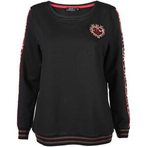 Damen Sweatshirt mit Glitzerdetails