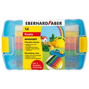 "Eberhard Faber Plastilin-Knete ""Winner"" 14 Stück"