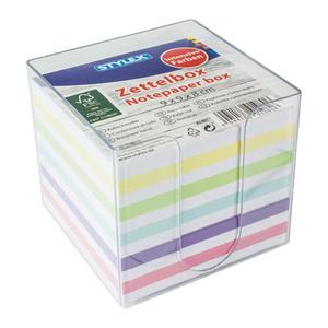 Zettelbox mit farbigem Papier 700 Blatt
