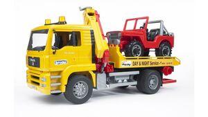 BRUDER - MAN TGA Abschlepp-LKW mit Geländewagen 02750