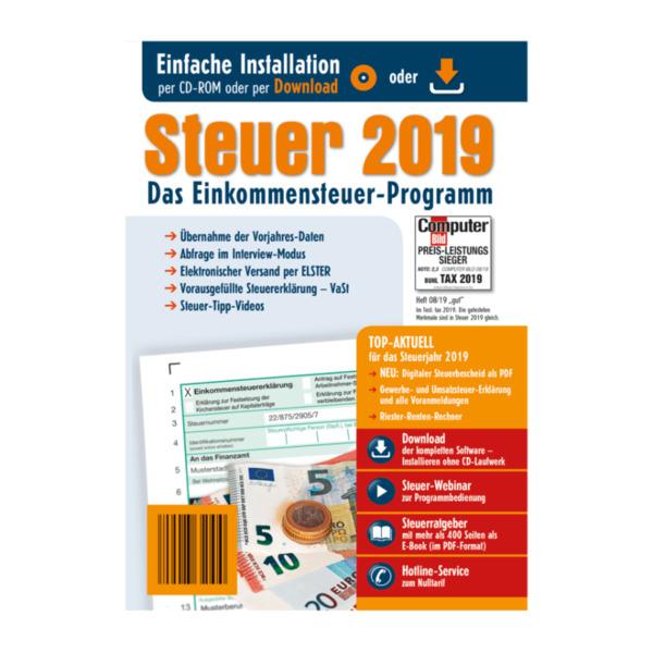 Steuererklärung 2019 software