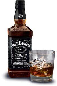 Jack Daniels Tennessee Whiskey 40 % Vol., + Glas gratis 0,7 Liter