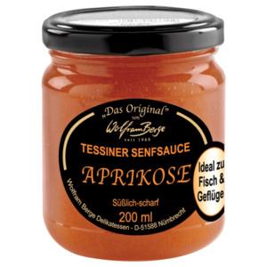 Wolfram Berge Tessiner Senfsauce Aprikose süßlich-scharf 200ml