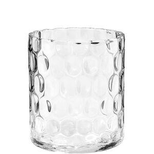 Butlers Agata Zylinder Vase mit Struktur 17 cm transparent