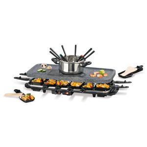 Gourmetmaxx Raclette-&Fondue-Set Granitoptik schwarz