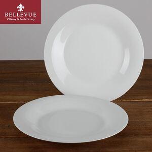 BELLEVUE Speiseteller super white 2er-Set Weiß
