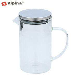 Alpina Glaskrug mit Deckel 1L