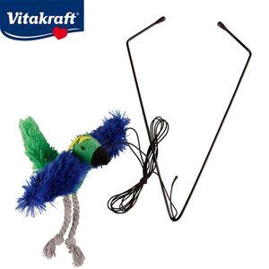 Vitakraft Katzenspielzeug Fliegender Vogel mit Katzenminze