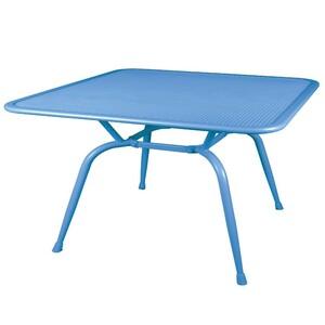 Gartentisch Metall blau 160x90x74cm Elotherm-Pulverbeschichtung wetterfest