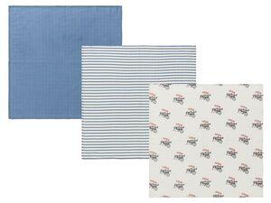 LUPILU® Baby Mulltücher, 3 Stück, pflegeleicht und hygienisch, aus Baumwolle