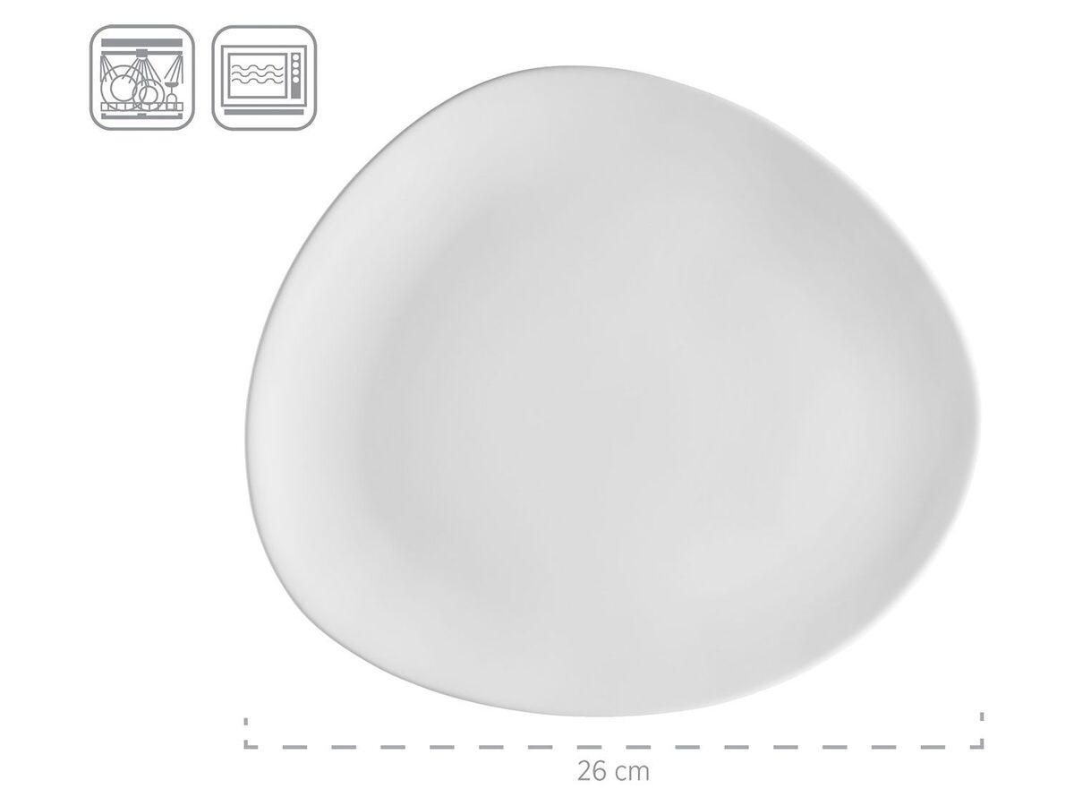 Bild 4 von MÄSER Serie Glendale, Teller Set flach 6-teilig für 2 Personen, modernes Tafelservice aus Dessertteller, Frühstücksteller und Speiseteller, matt lasiert, Keramik, Schwarz / Weiß / Grau