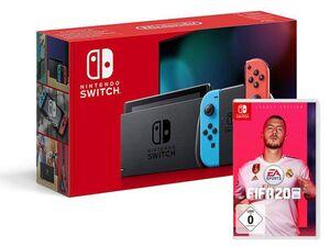 Nintendo Switch Neon-Rot/Neon-Blau + FIFA 20