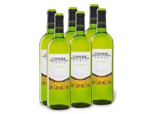 6 x 0,75-l-Flasche Weinpaket Conde Noble Vino blanco trocken, Weißwein