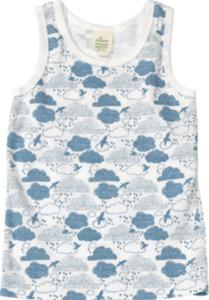 ALANA Kinder Unterhemd, Gr. 98, in Bio-Baumwolle, weiß, blau