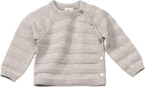 ALANA Baby Pullover, Gr. 62, in Bio-Baumwolle und Schurwolle, grau, für Mädchen und Jungen