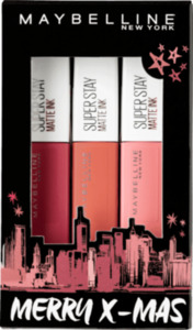 Maybelline New York X-MAS Set Red - Superstay Matte INK 80 + Superstay Matte INK 60 + Superstay Matte INK 10