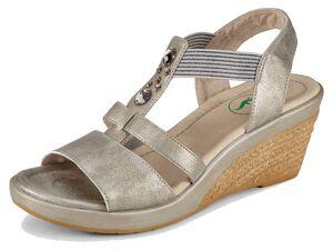 Footflexx Sandalen Damen, weiter Schnitt, TPR-Laufsohle, mit gegerbter Lederdecksohle