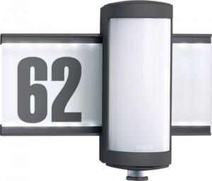 Steinel LED Außenleuchte L 625 ,  Hausnummer beleuchtet mit 360° Bewegungsmelder