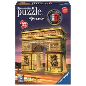 Ravensburger - 3D Puzzle: Triumphbogen bei Nacht, 216 Teile
