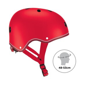 GLOBBER Primo Helm mit LED-Licht, rot