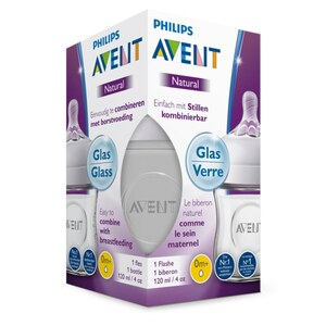PHILIPS AVENT - Natural Flasche 2.0 Glas 330 ml 1er Pack, SCF051/17