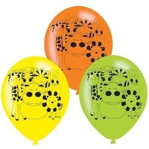 Amscan - Latexballons Dschungeltiere, 6 Stk.