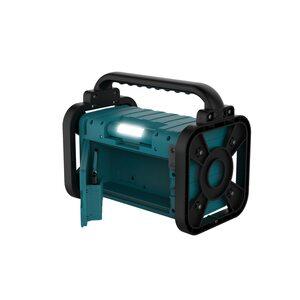 MEDION LIFE® P66200 Bluetooth® Baustellenradio, PLL-UKW Radio, LC-Display, Bluetooth® 5.0, Spritzwassergeschützt (IP44), robustes Gehäuse, LED-Arbeitslicht, 50 W max. Musikausgangsleistung (B-Wa