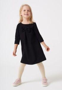Sweatkleid  schwarz Gr. 140 Mädchen Kinder