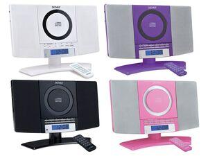 DENVER Musik-Center (vertikaler CD-Player mit LCD-Display, AUX-In, Wandhalterung, Weckerradio) MC-5220
