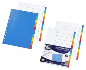Rex®  Kunststoff-Register, DIN A4