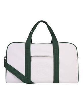 Lacoste Weekender, Synthetik, zweifarbig, abnehmbarer Schultergurt, weiß/grün