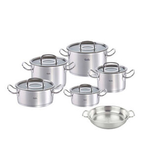 "Fissler Topf-Set ""ORIGINAL PROFI COLLECTION®"", inklusive Servierpfanne, silber"