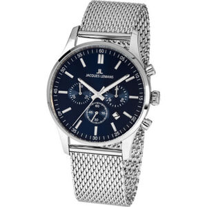 "Jacques Lemans Herren Chronograph London ""JL 1-2025H"", Blau"