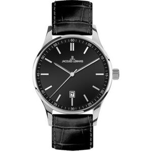 "Jacques Lemans Herrenuhr London ""JL 1-2026A"", Schwarz"