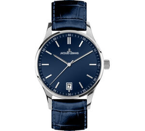 "Jacques Lemans Damenuhr London ""1-2027C"", silber / blau"