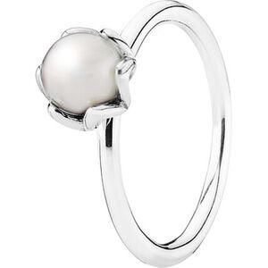 """Pandora Damen Ring """"190865P"""", 925er Silber mit Süßwasserperle, 58, silber"""