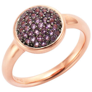 Jamelli Ring 925/- Sterling Silber rotverg. mit Amethyst