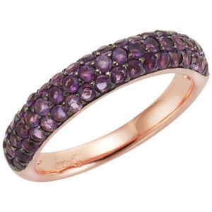 Jamelli Ring 925/- Sterling Silber rotvergoldet Amethyst