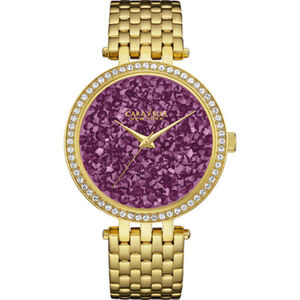 "Caravelle New York Damenuhr Gold & Purple ""44L212"""