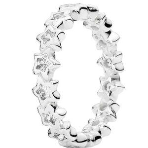 """Pandora Ring Funkelnde Sterne """"190974CZ"""", 925er Silber, 56, silber"""
